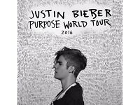 2x Justin Bieber Tickets Standing at Sheffield Arena