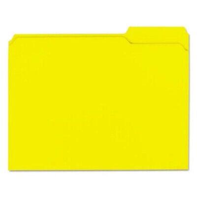 Colored File Folders 13 Cut Top Tab Letter Yellow 100box Unv16164