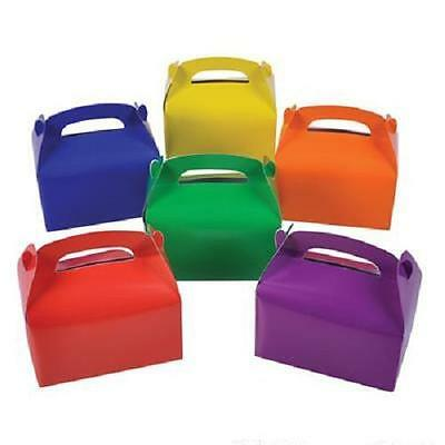 24 ASSORTED COLOR TREAT BOXES Birthday Party Loot Goody Bags #ST9 FREE (9 Treat Bags)