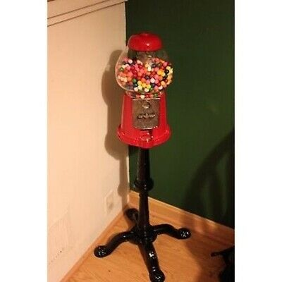 Antique Style Gumball Machine Standing Floor Stand Up