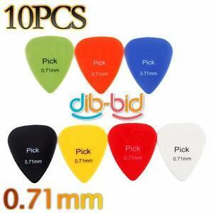 10Pcs-Smooth-Nylon-0-71mm-Guitar-Picks-Plectrums-Radom-Color-3