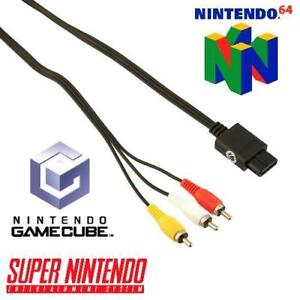 AV Cable TV Adapter for SNES / N64 / Gamecube / Nintendo 64 Audio Video