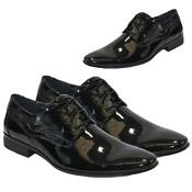 Mens Black Patent Shoes Size 10
