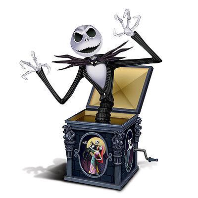 Tim Burton NIGHTMARE BEFORE CHRISTMAS Jack-In-The-Box Figurine NEW