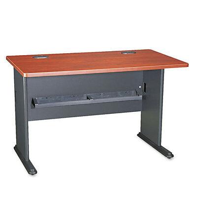Bush Series A Workstation Desk  48w x 26-7/8d x 29-7/8h  Hansen Cherry/Galaxy ()