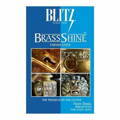 Blitz BrassShine Tarnish Eater Brass / Copper Polishing & Cleaning Care Cloth