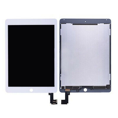 White LCD Screen Display Touch Digitizer +Wake/ Sleep for iPad Air 2 A1566 A1567