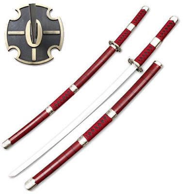 One Piece Samurai Sword Sandai Kitetsu Roronoa Zoro Katana Anime Burgundy Steel