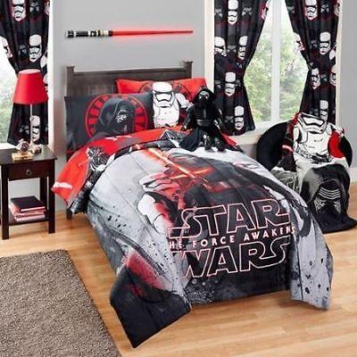 Star Wars Boys Kylo Ren Twin Single Comforter & Sheet Set (4 Piece Bed In A