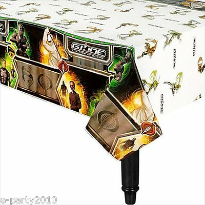 GI JOE Rise of Cobra PLASTIC TABLE COVER ~ Birthday Party Supplies Decorations - Gi Joe Party Supplies