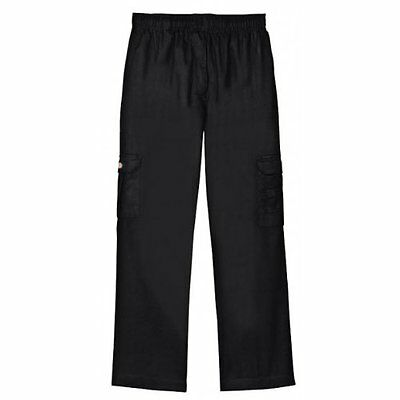 Dickies Chef Pants Black Drawstring Waist Baggie Cargo Pocket Medium Dcp201 New