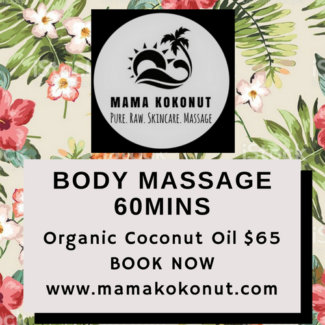 Full Body Massage with Organic Coconut Oil Blends