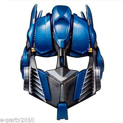 TRANSFORMERS PAPER MASKS (8) ~ Birthday Party Supplies Favors Costumes Optimus - Transformers Birthday