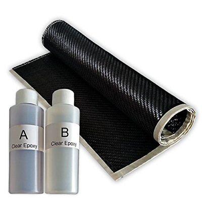 Real 2x2 Twill 3k 5.7 Oz Carbon Fiber Epoxy Resin Kit - 2x2 Twill 36 X 6