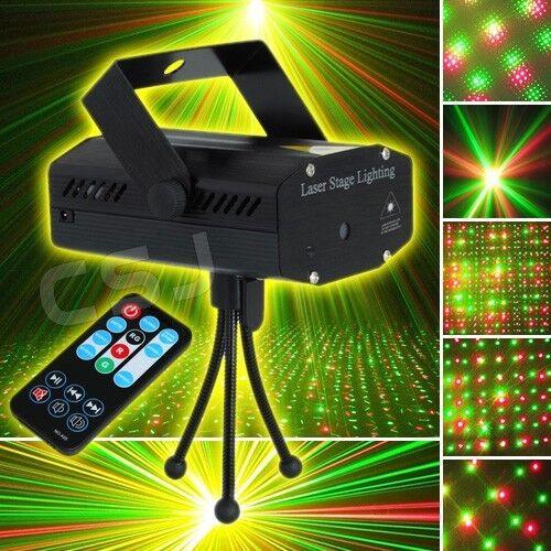 7 Mode Sound Music Auto Active Stage Laser Light Flashing Strobe DJ Disco Remote