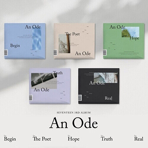 SEVENTEEN [AN ODE] 3rd Album CD+POSTER+2 Photo Book+4 Card+Pre-Order+GIFT SEALED