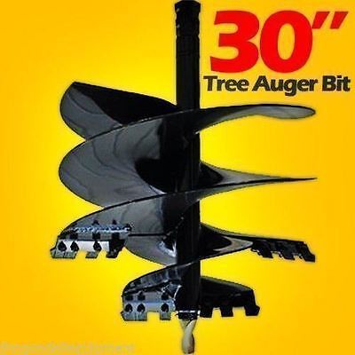 30 X 4 Tree Auger Bit For Skid Steer Uses 2.56 Round Driveships By Truckusa