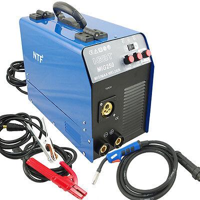 MIG-250 Schutzgas Inverter Schweißgerät MIG MAG + E-Hand IGBT 250Amp 230V TOP!