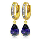 K-M Yellow Gold Fine Diamond Earrings