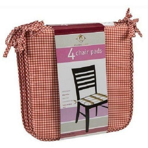 Chair Pads with Ties Home & Garden