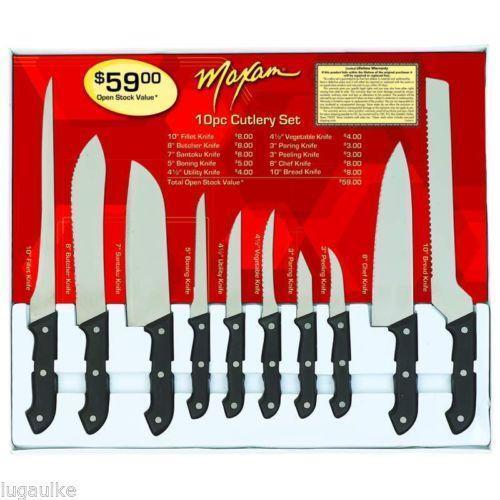 maxam kitchen knives ebay stainless steel kitchen cutlery knife set knife block