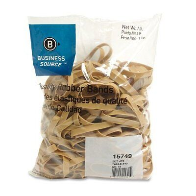 Business Source 15749 Rubber Bandssize 731 Lb.bg3 In.x38 In.natural Crepe