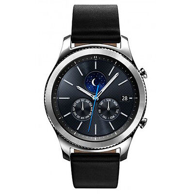 Samsung Materials S3 Classic Smartwatch w/ Touchscreen, Dust & Cut Resistant, Black