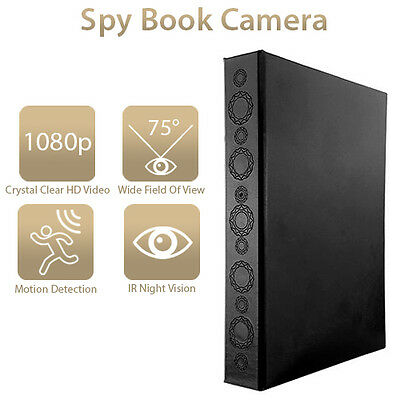 HD 1080P Super Long Life Covert Infrared Book Binder Camera DVR Surveillance Cam