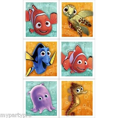 NEMO CORAL REEF STICKER FAVORS Birthday Party Supplies FREE SHIPPING