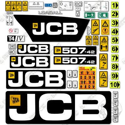 Jcb 507-42 Tier 4 Decal Kit Telehandler Telescopic Forklift - 7 Year 3m Vinyl