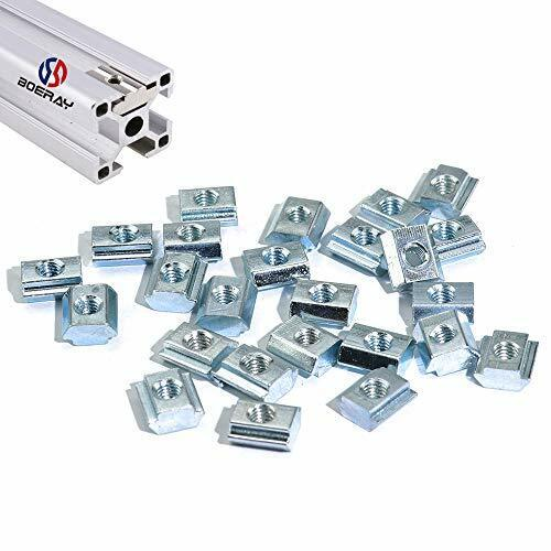 Boeray 50pcs M5 Slide in T Nut Tee Sliding Nut Nut for Aluminum Extrusion with