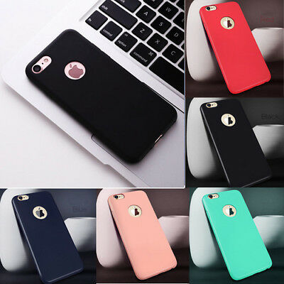 Matte Ultra Thin Shockproof Rubber Phone Case Cover for iPhone 5 6 6s 7 8 Plus X