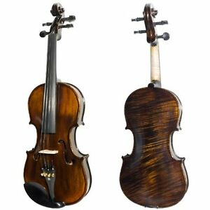 Ebony Fitted Flamed One-Piece Solid Wood Violin  (Brand new) Kitchener / Waterloo Kitchener Area image 7