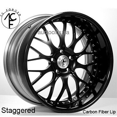 "4pcs 24"" AC Forged Wheels Rims 313 Carbon Fiber 3 piece"
