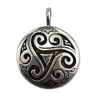 Triskele Shield Amulet Celtic Irish Norse Triple Spirals 1-1/4