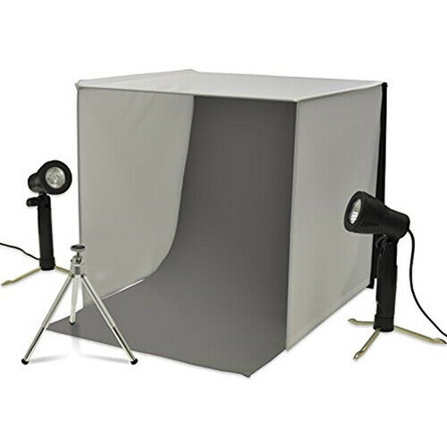 New! Xit XTPS101 Portable Photo Studio Lighting Kit For Jewelry Electronics