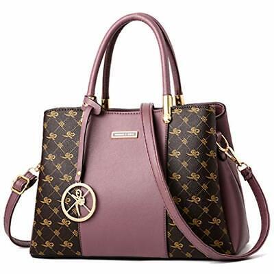 Women Purses and Handbags Top Handle Satchel Shoulder Bags Messenger Purple New