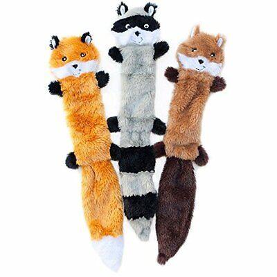 ZippyPaws Skinny Peltz No-Stuffing Squeaky Plush Dog Toy