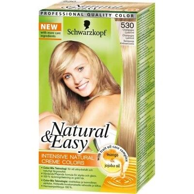 Tinta Per Capelli Colorazione Permanente Natural & Easy N 530 Biondo Champagne