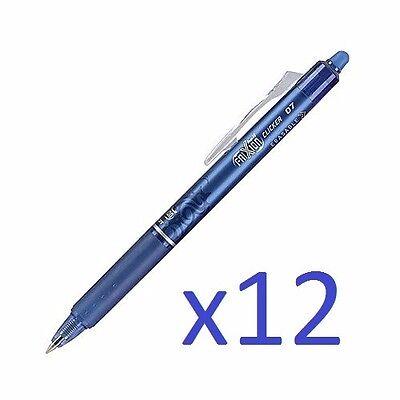 Newpilot Frixion Ball Clicker 0.7 Retractable Erasable Ink Gel Pen 12 Ct Blue