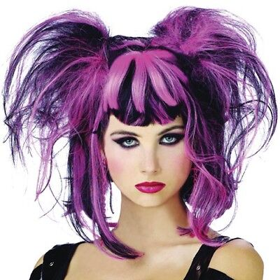 ADULT BEETLE JUICE III BLACK AND WHITE PUNK STYLE WIG COSTUME ACCESSORY LW118BW