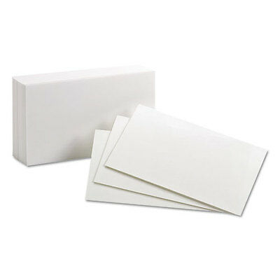 Oxford Unruled Index Cards 3 X 5 White 100pack