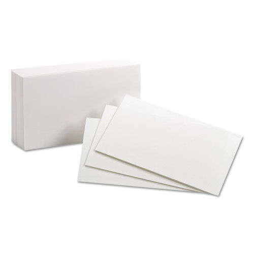 Oxford Unruled Index Cards, 3 X 5, White, 100/pack