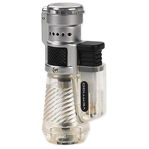 Vertigo by Lotus Cyclone Triple Torch Cigar Lighter Clear