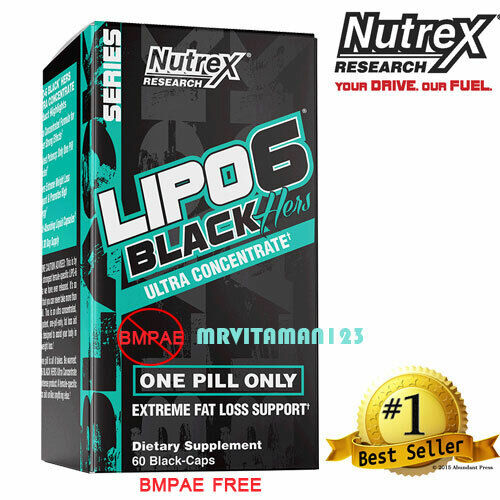 Nutrex LIPO 6 Black Hers Ultra Concentrate / Weight Loss 60 Caps FREE Shipping
