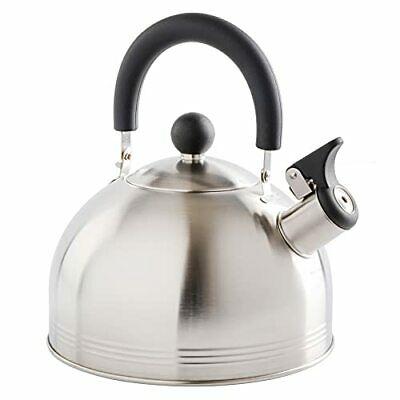 Carterton Stainless Whistling Tea Kettle Mirror Polish Electric Coil 1.5 Quart