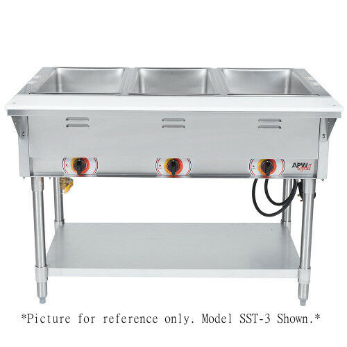 Apw Wyott Sst-5s Electric Stationary Sealed Champion Hot Well Steam Table