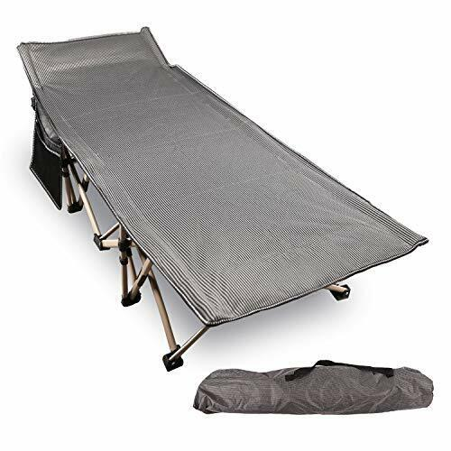 Folding Camping Cots for Adults 500lbs, Double Layer Oxford Strong Heavy Grey