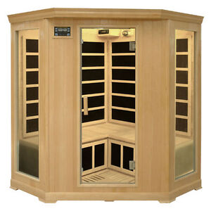 3 person infrared corner sauna unit