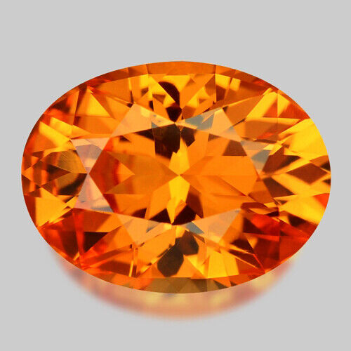 2.37cts EXQUISITE CUSTOM CUT NATURAL ORANGE MANDARIN GARNET VIDEO IN DESCRIPTION
